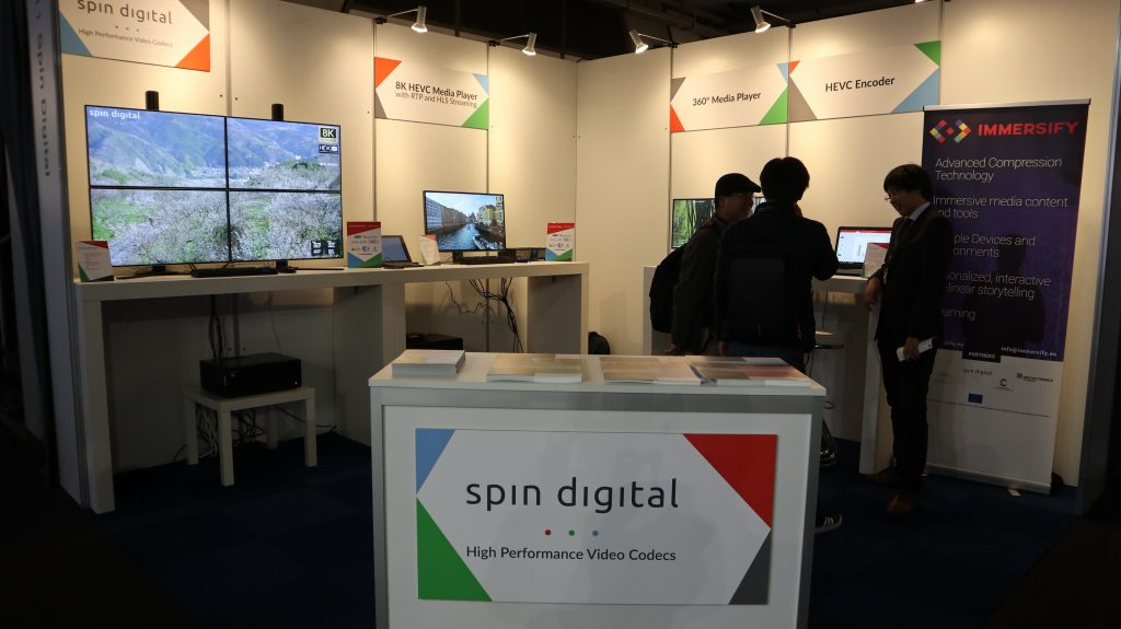 Spin Digital booth at IBC 2018