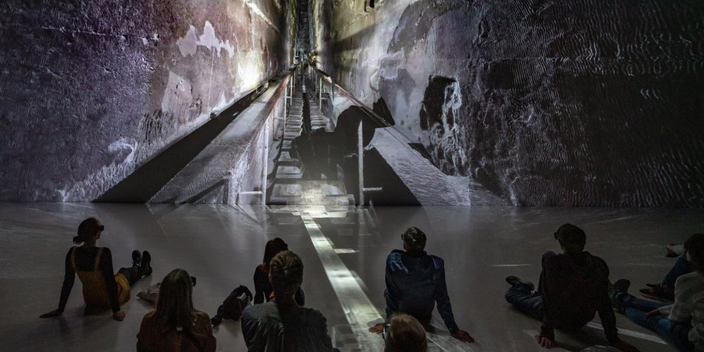Showcasing of The Great Pyramid in 3D at the Deep Space 8K, ©Ars Electronica